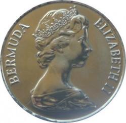 Moneta > 25centów, 1984 - Bermudy  (375 rocznica Bermudów - Herb Smith) - obverse