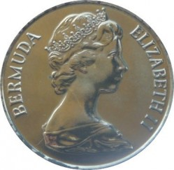 Moneta > 25centów, 1984 - Bermudy  (375 rocznica Bermudów - Herb Sandy) - obverse