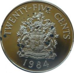 Moneta > 25centów, 1984 - Bermudy  (375 rocznica Bermudów - Herb Paget) - reverse