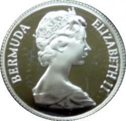 Moneta > 25centów, 1984 - Bermudy  (375 rocznica Bermudów - Herb Hamilton) - obverse
