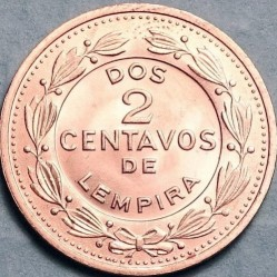 Кованица > 2цента, 1974 - Хондурас  - reverse