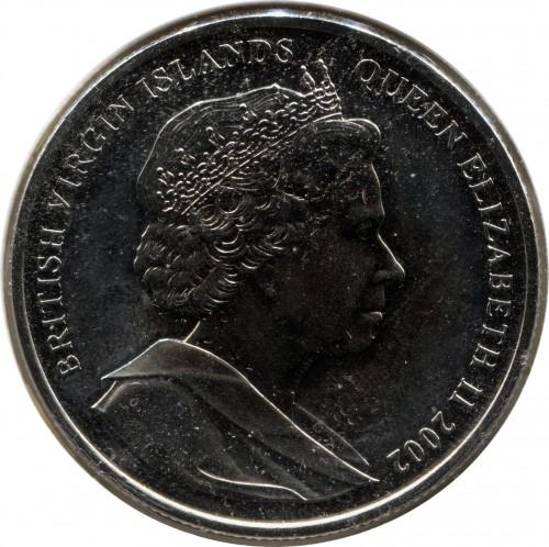 1 Dollar 2002 Freiheitsstatue Britischen Jungferninseln Münzen