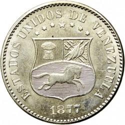 Moneta > 2½centavos, 1876-1877 - Wenezuela  - obverse