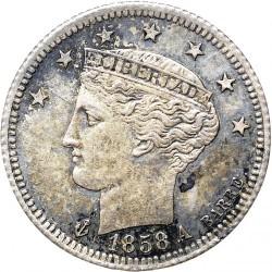 錢幣 > ½雷亞爾, 1858 - 委內瑞拉  - obverse