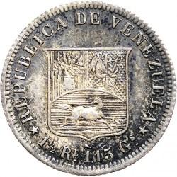 錢幣 > ½雷亞爾, 1858 - 委內瑞拉  - reverse