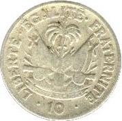 Монета > 10сантима, 1953 - Хаити  - reverse