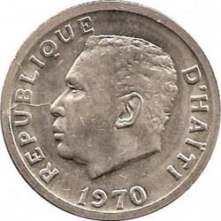 Moneda > 20centimes, 1970 - Haití  - obverse