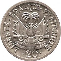 Moneda > 20centimes, 1970 - Haití  - reverse