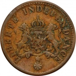 Moneda > 2 céntimos, 1850 - Haití  (W/o AN47 on obverse) - obverse