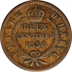Moneda > 2 céntimos, 1850 - Haití  (W/o AN47 on obverse) - reverse