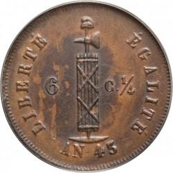 Moneta > 6¼centymów, 1846 - Haiti  - obverse