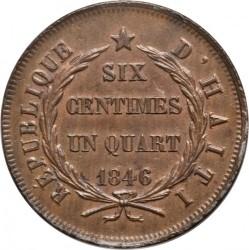 Moneta > 6¼centymów, 1846 - Haiti  - reverse
