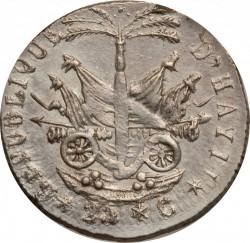 Moneta > 25centymów, 1818 - Haiti  - reverse