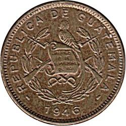 Монета > ½сентаво, 1946 - Гватемала  - obverse
