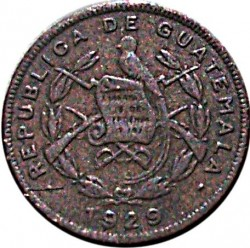Moneda > 1centavo, 1929 - Guatemala  - obverse