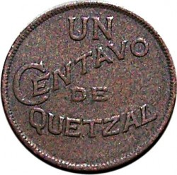 Munt > 1centavo, 1929 - Guatemala  - reverse