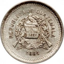 Moneda > 5centavos, 1881 - Guatemala  - obverse
