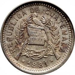 Moneta > 10centavos, 1881 - Guatemala  - obverse