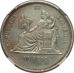 Moneda > 1peso, 1888-1889 - Guatemala  - reverse