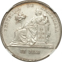 Монета > 1песо, 1879-1893 - Гватемала  - reverse