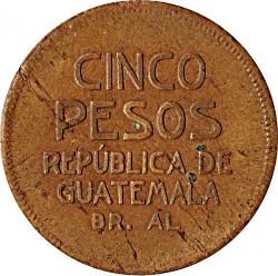 Монета > 5песо, 1923 - Гватемала  - reverse