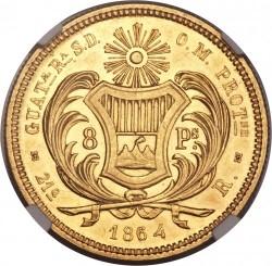Монета > 8песо, 1864 - Гватемала  - reverse