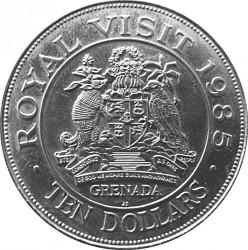 Moneta > 10dollari, 1985 - Grenada  (Elisabetta II) - reverse