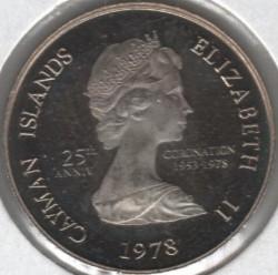 Moneta > 5centesimi, 1978 - Cayman (Isole)  (25° anniversario  dell'incoronazione) - obverse