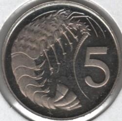 Moneta > 5centesimi, 1978 - Cayman (Isole)  (25° anniversario  dell'incoronazione) - reverse