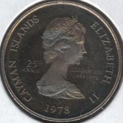 Moneta > 10centesimi, 1978 - Cayman (Isole)  (25° anniversario  dell'incoronazione) - obverse