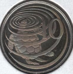 Moneta > 10centesimi, 1978 - Cayman (Isole)  (25° anniversario  dell'incoronazione) - reverse