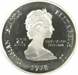 Moneta > 25centesimi, 1978 - Cayman (Isole)  (25° anniversario  dell'incoronazione) - obverse