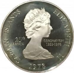 Moneta > 50centesimi, 1978 - Cayman (Isole)  (25° anniversario  dell'incoronazione) - obverse