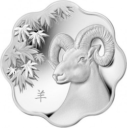 Coin > 15 dollars, 2015 - Canada  (Chinese Zodiac - Year of Goat /scalloped/) - reverse