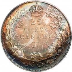 Münze > 25Cent, 1911 - Kanada   - reverse