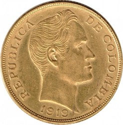 Pièce > 10pesos, 1919-1924 - Colombie  - obverse