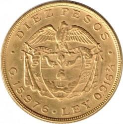 Pièce > 10pesos, 1919-1924 - Colombie  - reverse