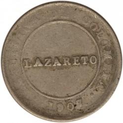 Moeda > 1Peso(papelmoeda), 1907 - Colômbia  (Leprosarium Coinage) - obverse