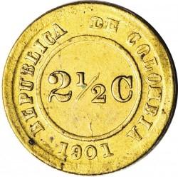 Moeda > 2½centavos, 1901 - Colômbia  - reverse