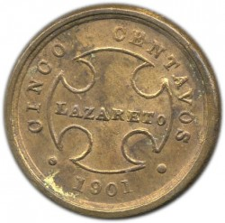 Coin > 5centavos, 1901 - Colombia  - obverse