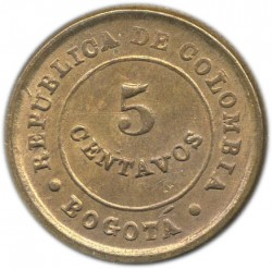 Coin > 5centavos, 1901 - Colombia  - reverse