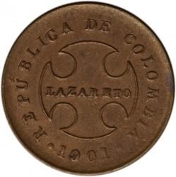 Coin > 20centavos, 1901 - Colombia  - obverse