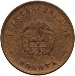 العملة > ٢٠سنتافو, 1901 - كولومبيا  - reverse