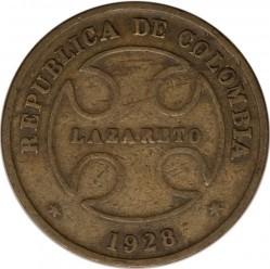 Moeda > 50centavos, 1928 - Colômbia  - obverse