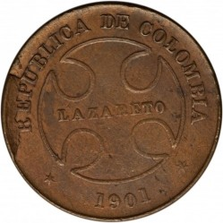 Coin > 50 centavos, 1901 - Colombia  - obverse