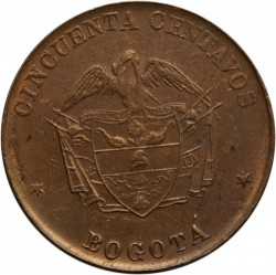 Coin > 50 centavos, 1901 - Colombia  - reverse