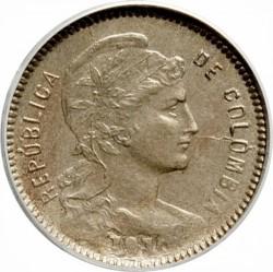 מטבע > 1פזו(פאבלהמונדה), 1907-1916 - קולומביה  - obverse