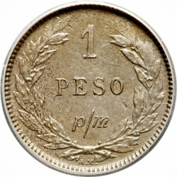 Монета > 1песо(papelmoneda), 1907-1916 - Колумбия  - reverse