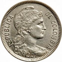 מטבע > 5פזו(פאבלהמונדה), 1907-1914 - קולומביה  - obverse