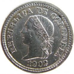 Monedă > 5centavo, 1902 - Columbia  (Silver) - obverse